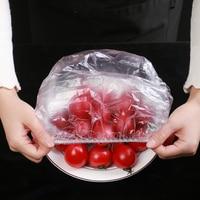 Tapas elásticas de plástico para alimentos, cubierta de cuenco de cocina, tapas de plástico para mantenimiento fresco, utensilios de cocina, 100 Uds.