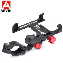 ARVIN Aluminum Alloy Motorcycle Bicycle Phone Holder For iPhone X 8P Sansung S9 Handlebar Rearview Mobile Phone Stand GPS Mount