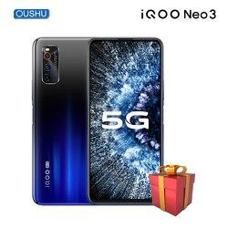 Оригинальный новейший IQOO neo 3 5G двухрежимный Celular Snapdragon 865 6,57 ''гоночный экран 4500 мАч 44 Вт флеш-зарядка NFC мобильный телефон