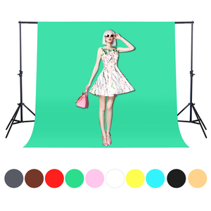 Image 2 - CY Hot Sale 1.6x2m Green Cotton Non pollutant Textile Muslin Photo Backgrounds Studio Photography Screen Chromakey Backdrop