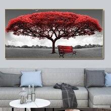 Красное дерево и стул пейзаж искусство масляной живописи на