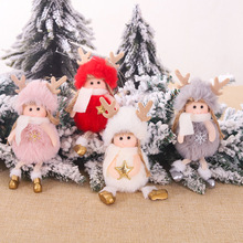 2020 Christmas Cute Silk Plush Angel Doll Tree Decorations Childrens Gifts for Home Navidad