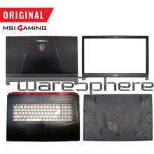 ใหม่สำหรับMSI GE73VR 17C7 LCDฝาครอบด้านหลังฝาปิด/ด้านหน้า/Palmrest/ด้านล่าง/USคีย์บอร์ดสีดำ