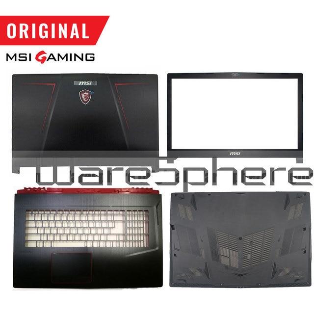 Новинка, оригинальная задняя крышка для ЖК дисплея MSI GE73VR 17C7/Передняя панель/Упор для рук/Нижняя крышка/черная клавиатура с подсветкой стандарта США