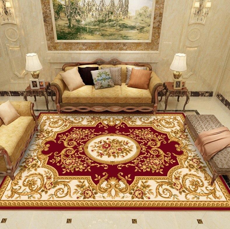 120*180cm grand tapis pour salon enfants ramper tapis européen Jacquard corail polaire tapis maison tapis porte tapis couverture - 5