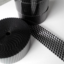 50Pairs Sugru black Velcro Nylon Sticker strong Adhesive Hook and Loop self adhesive Round home use Curtain fastener