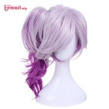 L mail parrucca LOL Lux Parrucche di Cosplay la Signora di Luminosità Misto Viola Ondulata di Cosplay Parrucca Coda di Cavallo di Calore Resistente capelli sintetici