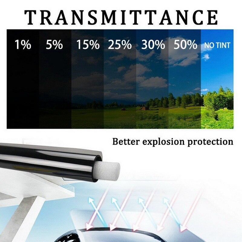 Película opaca para ventana de coche, 1 rollo de 50x300cm, 1/5/15/25/35/50% VLT, pegatina de cristal para parasol, película adhesiva UVProtctor de verano