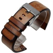 Quality Genuine Retro genuine Leather watchband men for DZ4343 DZ4323 DZ7406 watch strap vintage Italian leather 22mm 24mm 26mm