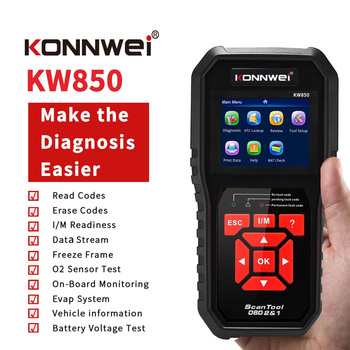 цена на KONNWEI Universal OBD2 Scanner Auto Diagnosis Code Reader Scaner Tools KW850 Automotive code scanner Programmer
