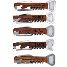 Abridor de garrafa de madeira personalizado do punho da barra de cerveja do presente do casamento do oem logotipo personalizado