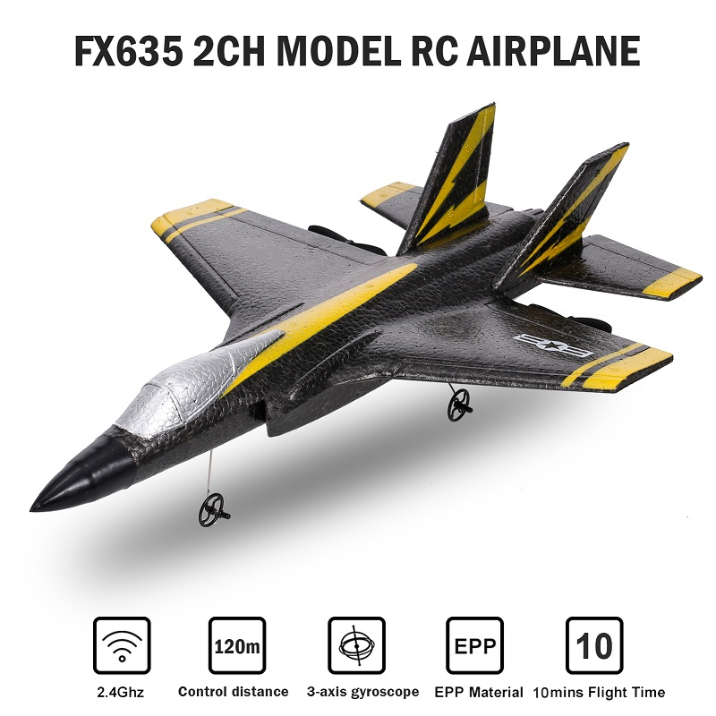 2021 Flybear FX635 248mm Wingspan 2.4G 2CH EPP RC Airplane Warbird RTF Bulit-in 3-Axis Gyro Fixed Wing Airplane Toys for Kids
