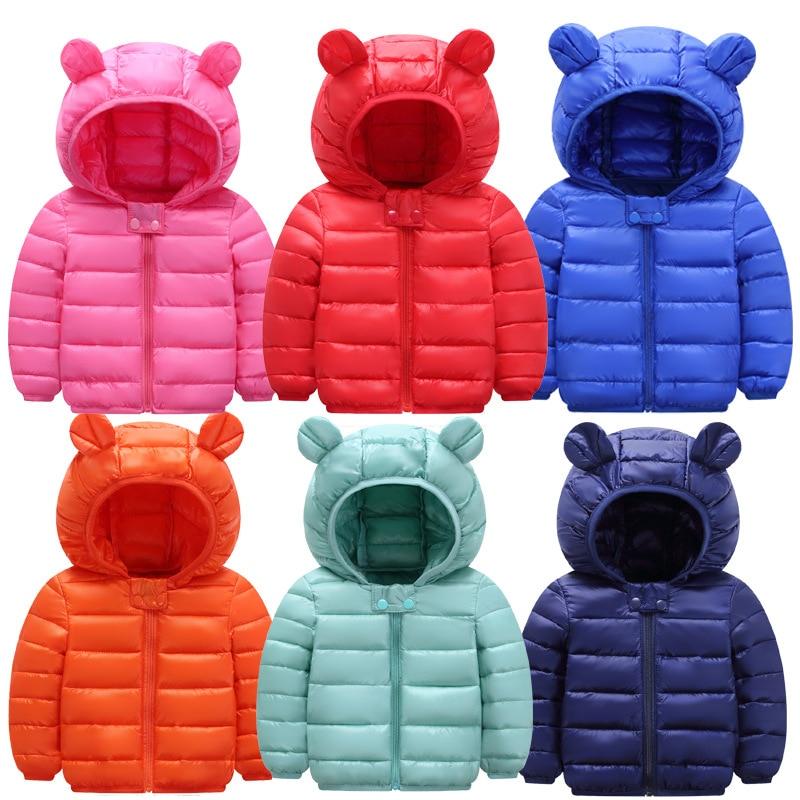 2021 г. Новая модная зимняя куртка детская одежда для мальчиков и девочек ветронепроницаемые тонкие пуховые пальто с длинными рукавами и капю...