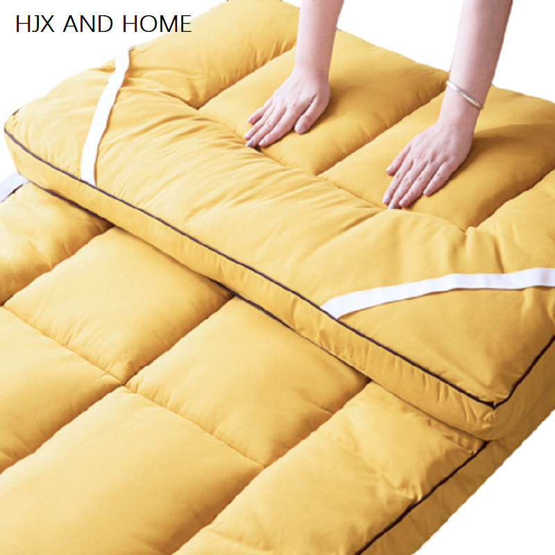 High-grade Fabric Fine Workmanship Thickening Feeling Mattress Five Star Hotel Foldable Tatami   Cotton Cover King Queen Size