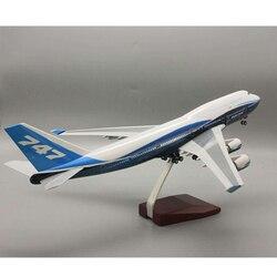 1:150 самолет Boeing B747-400 47 см модель самолета Международная авиационная Модель W свет с колесом литая Смола самолет подарок