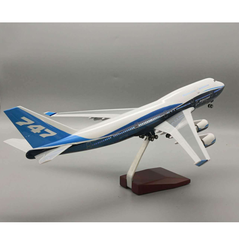 1:150 Airplane Boeing B747-400 47CM Model Aircraft Plane International Airline Model W Light With Wheel Diecast Resin Plane Gift