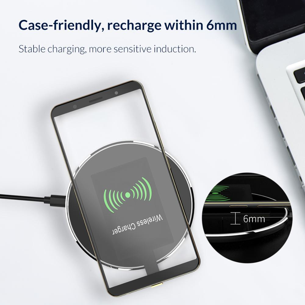 Image 4 - ORICO QI Wireless Charger Receiver For iPhone Wireless Charging Receiver for Micro USB Type c Phone-in Mobile Phone Chargers from Cellphones & Telecommunications