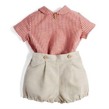 Set di vestiti per neonato Set di abbigliamento per bambini Boutique abito camicia di cotone per bambini pantaloni bambino ragazzi abiti spagnolo spettacolo per feste di compleanno