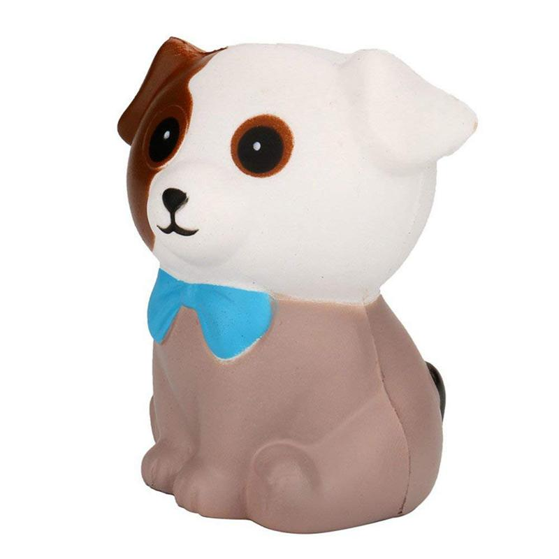 Squishy Dog, Jumbo Squeeze Spotted Dog Cream Bread Scented Slow Rising Stress Relief Toys Phone Charm Gifts For Kids And Adults