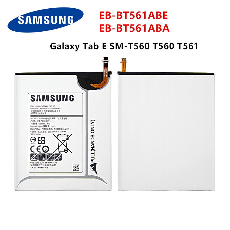 SAMSUNG Orginal Tablet EB-BT561ABE EB-BT561ABA 5000mAh Battery For Samsung Galaxy Tab E T560 T561 SM-T560 Tablet Battery