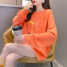 Осенняя Новинка корейский стиль свободные большие размеры с
