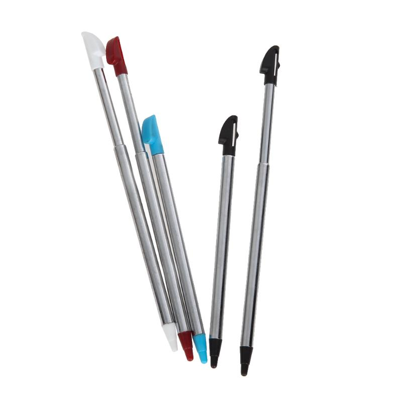 5Pcs Colors Metal Retractable Stylus Touch Pen for Nintend 3DS XL/LL Games Machine Accessories Screen Protecting Props 5
