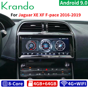 Krando Android 9.0 4G 64G 10.25'' car radio dvd navigation player For Jaguar XE XEL XF XFL F-TYPE XJ 2016-2019 multimedia player image