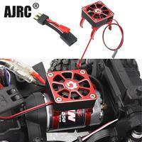 Accesorios para coche eléctrico de radiocontrol, cubierta de radiador con motor de cepillo de carbono sin escobillas y ventilador de refrigeración para TRX-4 SCXI10 RC4WD RC, 540, 550