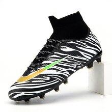 Men Football Boots High Ankle Soccer Shoes for Men Women Kids AG Football Shoes Botas De Futbol Socks Cleats Trainers Training