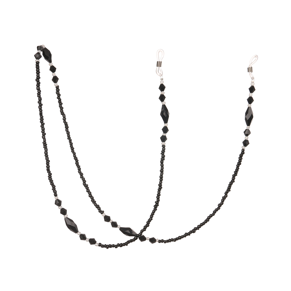 Fashion Women Eyeglass Chain Black Acrylic Beads Chains Anti-slip Eye Wear Cord Holder Necklace Strap Reading Glasses Rope