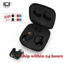 חדש KZ Z1 TWS Bluetooth 5.0 אלחוטי אוזניות AAC מגע בקרת אוזניות 10mm דינמי אוזניות ספורט משחק אוזניות KZ s1 S1D S2