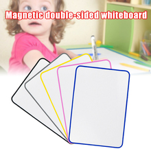 White Board Wipe off Lap Board Double Sided Magnetic Whiteboard for Kids Children Painting UY8