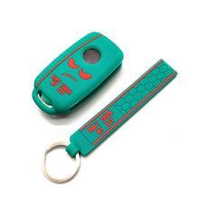 Novo design palavra não toque minha chave para volkswagen polo passat b5 golf 4 5 6 mk6 eos bora beetle tsi silicone caso capa chave do carro