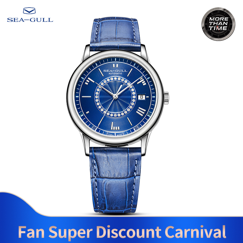 Seagull Watch Male Waterproof Steel Belt Mechanical Watch Business Casual Calendar Automatic Mechanical Watch 519.27.6038