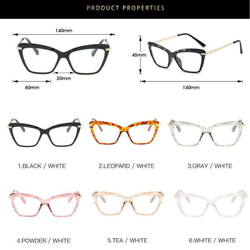 Cat Eye Glasses Frame Women 2019 Brand Retro Optical Glasses Frame Sculpture Eyeglasses Frame Clear Lens fake glasses Oculos in Women 39 s Eyewear Frames from Apparel Accessories