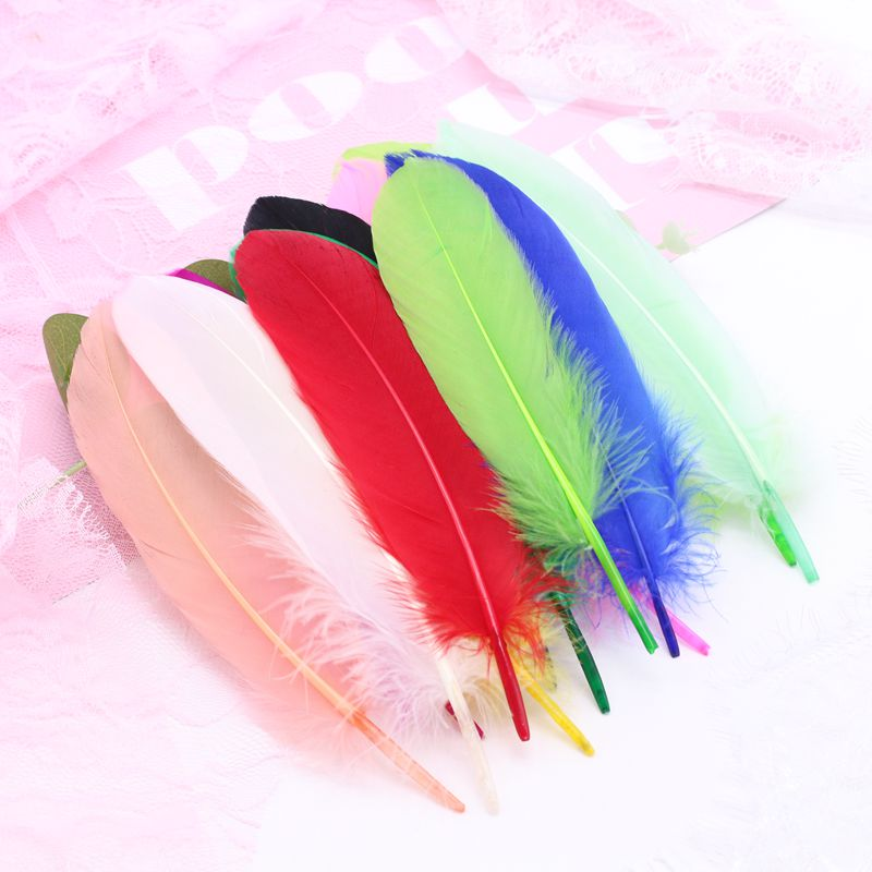 Natural Goose Feathers Plumes 4-6 Inches 10-15cm Multicolor Plume DIY Jewelry Crafts Feather Wedding Paty Home Decoration 50pcs