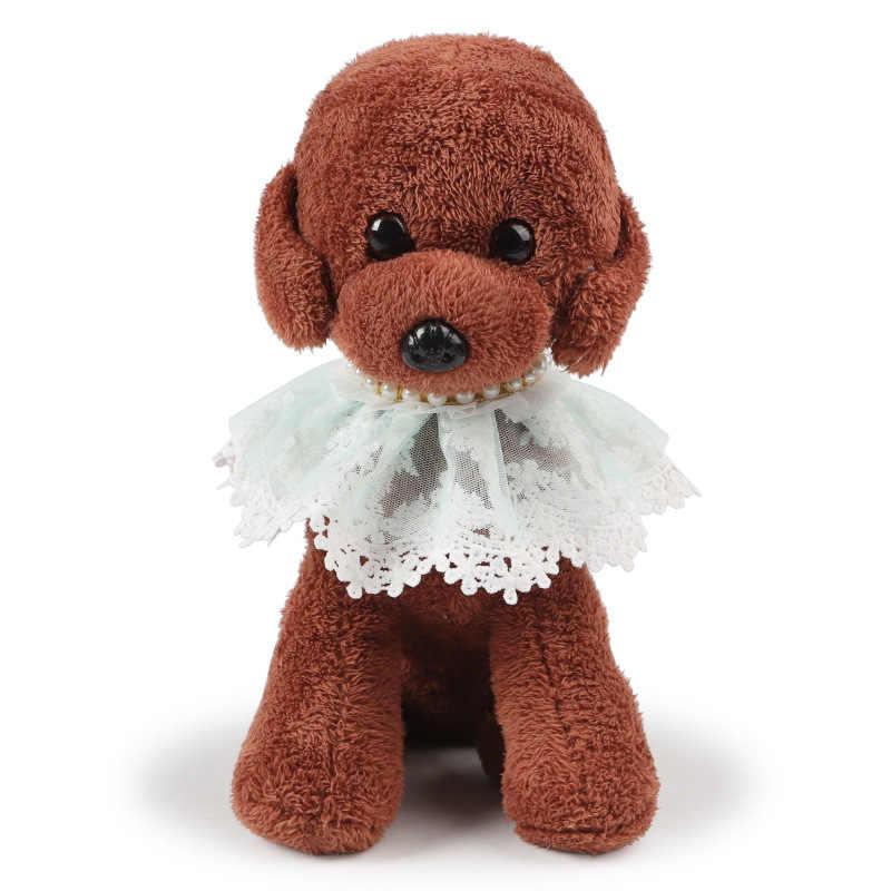 @ 彼ペットファッション真珠花レーススカーフ調整可能な猫犬ネッカチーフ唾液タオル姫高級アクセサリー