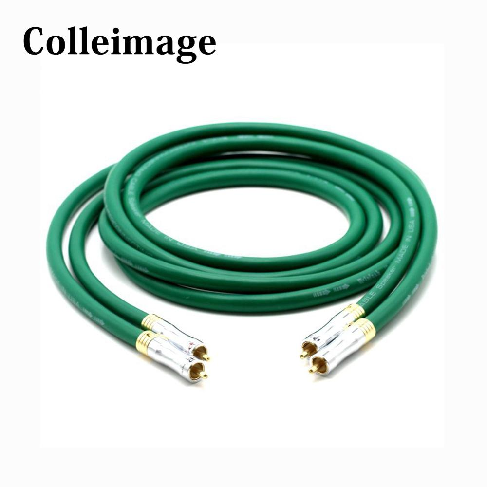 Colleimage Hifi <font><b>MCINTOSH</b></font> <font><b>2328</b></font> Pure Copper RCA Audio Cable Audio Interconnect Audio Cable With Gold plated RCA plugs Connector image