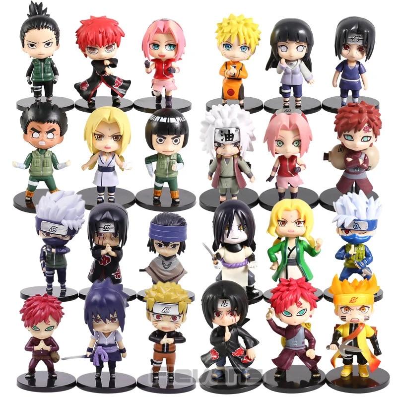 Naruto Shippuden Naruto Kakashi Gaara Itachi Sasuke Sakura Jiraiya Orochimaru Tsunade Rock Lee Sasori Pvc Angka Mainan 6 Buah Set Aksi Toy Angka Aliexpress