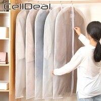 CellDeal 5/10PCS Clothes Hanging Garment Dress Clothes Suit Coat Dust Cover Storage Bag Pouch Case Organizer Wardrobe Hanging