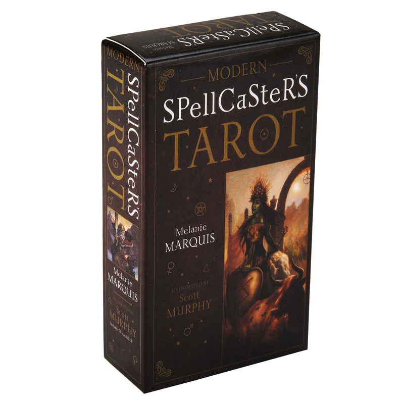Modern Spellcaster's Tarot Cards Game English Tarot Deck Table Card Board Games Party Playing Cards Entertainment Family Games