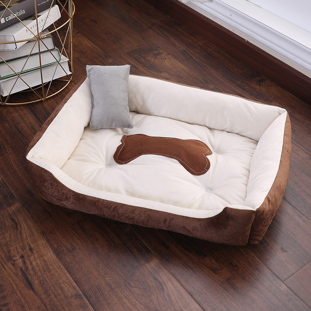 CANILE Soft Pet Bed For Dogs Washable House For Cat Puppy Cotton Kennel Mat Pet Bed Warm Pet Products For Small Medium Large Dog 4