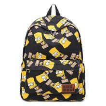 SpongeBob Backpack Woman Cartoon Printing Elementary School Bags for Teenage Girls Boy Children Rucksacks Fit for 14 inch Laptop