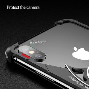 Image 2 - OATSBASF バットデザインバンパーエアバッグ金属ケース iphone × ケース人格リングホルダーシェル iphone 7 8 プラス金属カバー