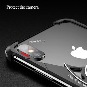 Image 2 - OATSBASF yarasa tasarım tampon hava yastığı Metal iPhone için kılıf X durumda kişilik halka tutucu kabuk iPhone 7 için 8 artı Metal kapak