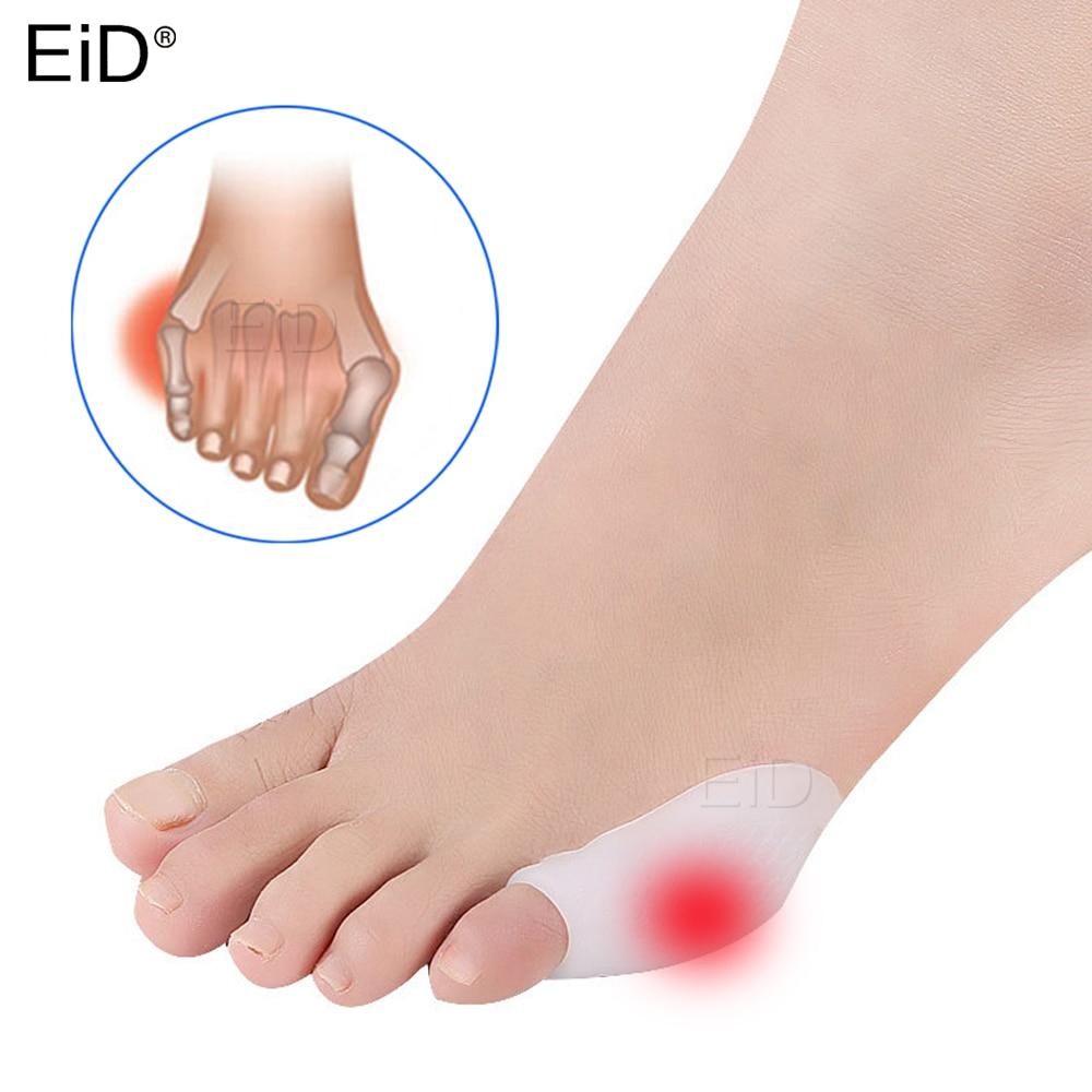 EiD 2 Pcs Silicone Gel Small Toes Separator Corrector Toe Orthotics Bunion Hallux Valgus Anti Eversion Overlap Inserts Pad