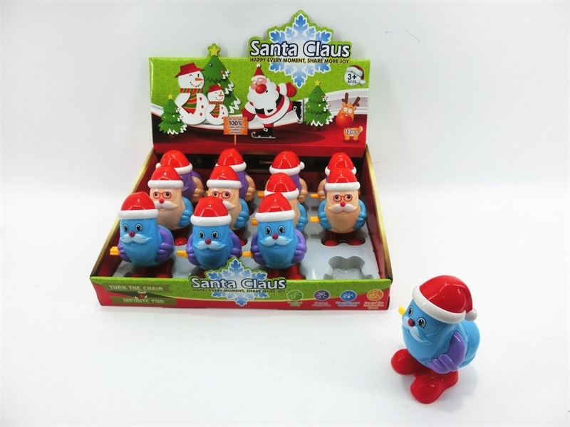 Hot Sales Creative Children Wind-up Toy Cartoon Winding Santa Claus Snowman Small Toy Stall Supply Of Goods