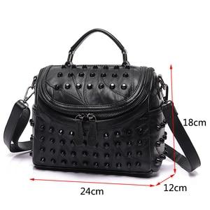 Image 2 - 2019 luxus Frauen Aus Echtem Leder Tasche Schaffell Messenger Taschen Handtaschen Berühmte Marken Designer Weiblichen Handtasche Schulter Tasche Sac