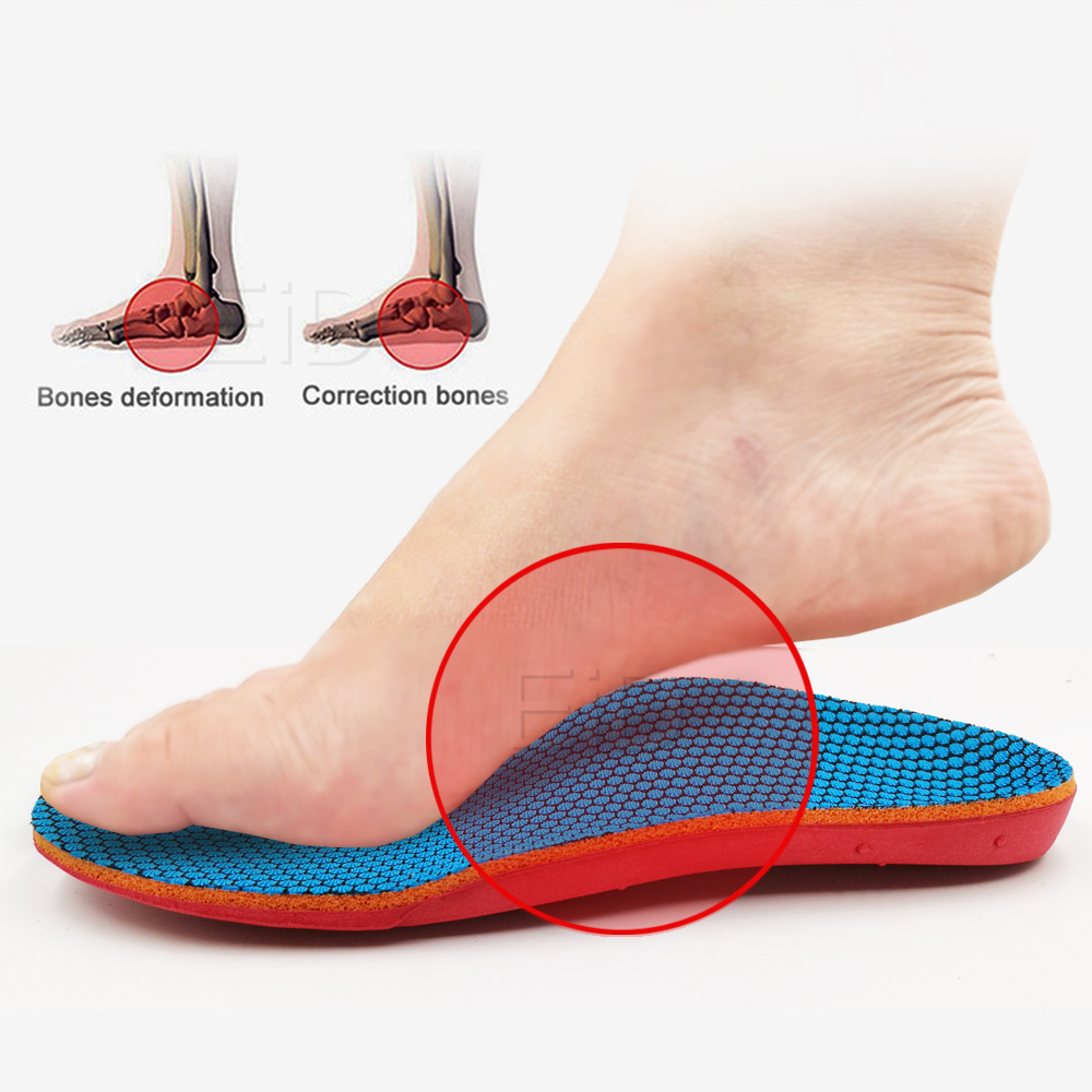 EID Kids Children Orthopedic Insoles Shoes Flat Foot Arch Support insoles Orthotic Pads Correction Health shoes pad foot care