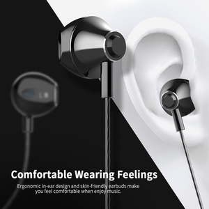 Image 2 - Langsdom Metal Earphone Headphones with Mic 3.5MM Wired Stereo Headset Hifi In Ear Earphones for Phone Xiaomi fone de ouvido